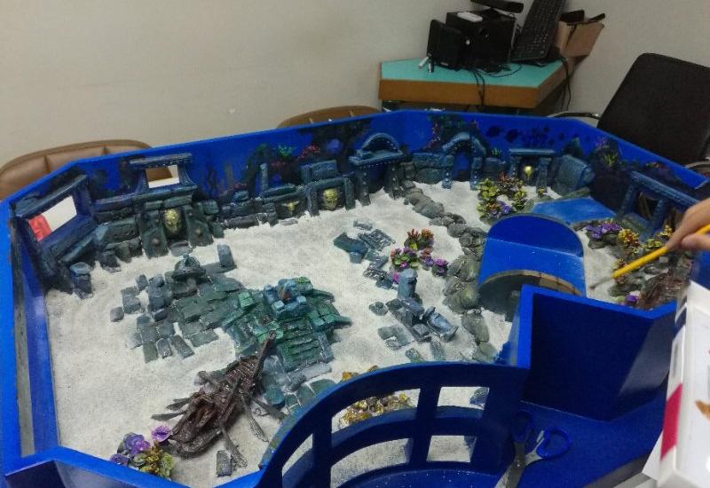海洋展池施工